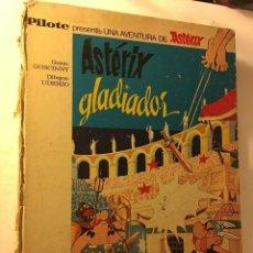 Cómics: ANTIGUO TEBEO AÑOS 70/80 BRUGUERA R.GOSCINNY, A.UDERZO UNA AVENTURA DE ASTERIX GLADIADOR. Lote 100624283