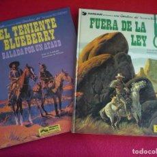 Cómics: BLUEBERRY BALADA POR UN ATAUD + FUERA DE LA LEY ( GIRAUD CHARLIER ) ¡MUY BUEN ESTADO! GRIJALBO 9 10. Lote 100725395
