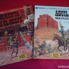 Cómics: BLUEBERRY TORMENTA EN EL OESTE + AGUILA SOLITARIA (GIRAUD CHARLIER) ¡MUY BUEN ESTADO! GRIJALBO 17 18. Lote 100725879