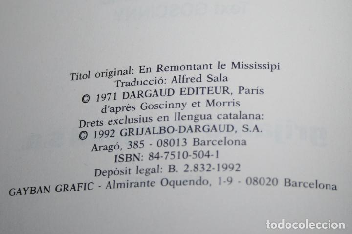 Cómics: LUCKY LUKE - REMUNTANT EL MISSISSIPÍ - MORRIS & GOSCINNY - GRIJALBO/DARGAUD - 1992 - EN CATALÁN - Foto 5 - 101245423