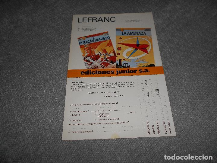 Cómics: PUBLICIDAD EDICIONES JUNIOR EDITORIAL GRIJALBO COMICS SUSCRIPCION COLECCION LE FRANC JACQUES MARTIN - Foto 2 - 101290275