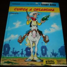 Cómics: LUCKY LUKE - CURSA A OKLAHOMA - MORRIS - GRIJALBO/DARGAUD - 1989 - EN CATALÁN. Lote 102032155