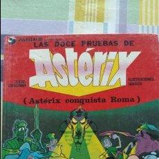 Cómics: LAS DOCE PRUEBAS DE ASTERIX. ASTERIX CONQUISTA ROMA. GRIJALBO. 1987. W. Lote 102660035