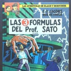 Cómics: LAS FÓRMULAS DELPROFESOR SATO Nº 12 BLAKE Y MORTIMER ED GRIJALBO MONDADORI JUNIOR NUEVO TAPA DURA. Lote 196574423