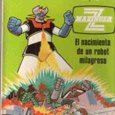 Cómics: MAZINGER Z *** EL NACIMIENTO DE UN ROBOT MILAGROSO *** NÚMERO 1 *** EDICIONES JUNIOR S.A. AÑO 1978. Lote 103443883