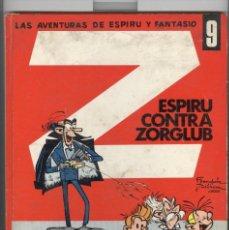 Comics : LAS AVENTURAS DE ESPIRU Y FANTASIO Nº 9. ESPIRU CONTRA ZORGLUB. ED. JAIMES 1970. Lote 104571751