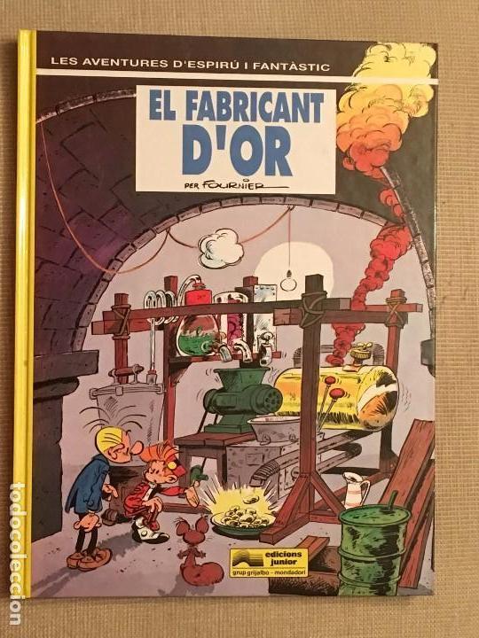 ESPIRU I FANTASTIC, SPIRU Y FANTASIO EL FABRICANT D'OR Nº33 EDICIONES JUNIOR GRIJALBO ,EN CATALÁN (Tebeos y Comics - Grijalbo - Spirou)
