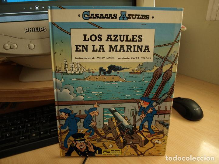 CASACAS AZULES - LOS AZULES EN LA MARINA - AÑO 1975 - EDICIONES JUNIOR - TAPA DURA (Tebeos y Comics - Grijalbo - Otros)