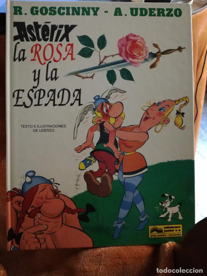 ASTERIX LA ROSA Y LA ESPADA TAPA DURA, GRIJALBO AÑO 1991, NUMERO 29 (Tebeos y Comics - Grijalbo - Asterix)