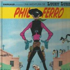 Cómics: LUCKY LUKE Nº 44 - PHIL FERRO - MORRIS - GRIJALBO - TAPA DURA, CATALÁN - MUY BUEN ESTADO. Lote 109589059