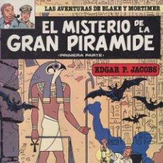 Cómics: LAS AVENTURAS DE BLAKE Y MORTIMER: EL MISTERIO DE LA GRAN PIRÁMIDE. 1º Y 2º PARTE. Lote 110891215