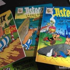 Cómics: ASTERIX LOTE Nº 2, 3, 10 I ELS GOTS LA FALÇ D'OR EL COMBAT DELS CAPS BILINGUE ANGLES CATALA (COI57). Lote 112451095