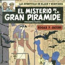Cómics: BLAKE Y MORTIMER, TITULO EL MISTERIO DE LA GRAN PIRAMIDE, EDICIONES JUNIOR. Lote 112686823