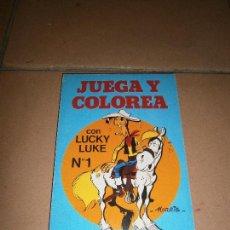 Cómics: JUEGA Y COLOREA LUCKY LUKE 1 - TIMUN MAS DARGAUD - 1985 - LIBRETA DE JUEGOS Y DIBUJOS DE MORRIS. Lote 113276423
