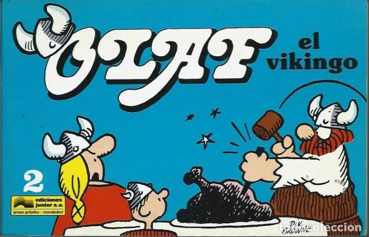 DIK BROWNE - OLAF EL VIKINGO Nº 2 - EDICIONES JUNIOR GRUPO GRIJALBO 1991 - MUY MUY DIFICIL - BIEN (Tebeos y Comics - Grijalbo - Otros)