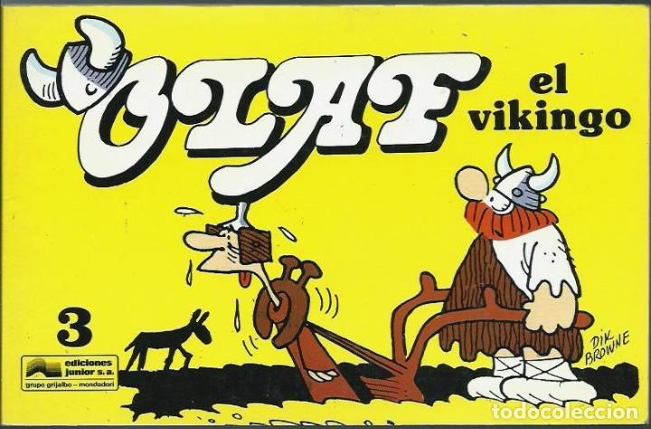 DIK BROWNE - OLAF EL VIKINGO Nº 3 - EDICIONES JUNIOR GRUPO GRIJALBO 1991 - MUY MUY DIFICIL - BIEN (Tebeos y Comics - Grijalbo - Otros)
