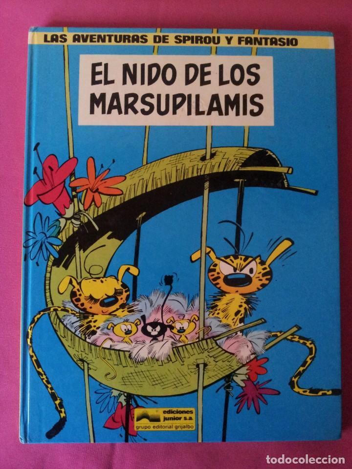 LAS AVENTURAS DE SPIROU Y FANTASIO Nº10 - EL NIDO DE LOS MARSUPILAMIS - EDIC. JUNIOR,GRIJALBO 1982 (Tebeos y Comics - Grijalbo - Spirou)