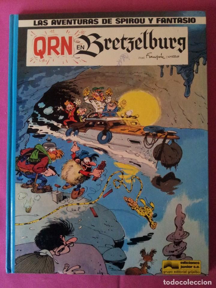 LAS AVENTURAS DE SPIROU Y FANTASIO Nº14 - QRN EN BRETZELBURG - EDICIONES JUNIOR,GRIJALBO 1982 (Tebeos y Comics - Grijalbo - Spirou)