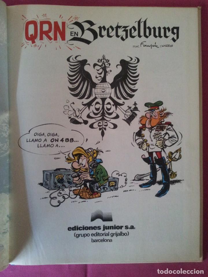 Cómics: LAS AVENTURAS DE SPIROU Y FANTASIO Nº14 - QRN EN BRETZELBURG - EDICIONES JUNIOR,GRIJALBO 1982 - Foto 2 - 116052135