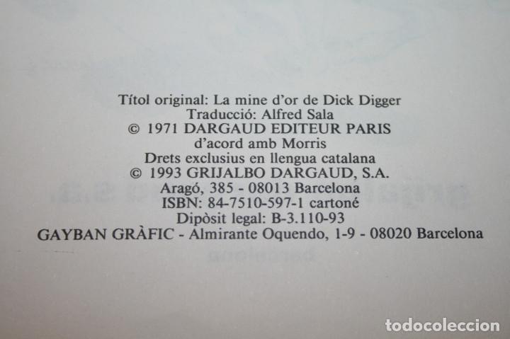 Cómics: LUCKY LUKE - LA MINA DOR DE DICK DIGGER - MORRIS - GRIJALBO/DARGAUD - 1993 - EN CATALÁN - Foto 2 - 116261263
