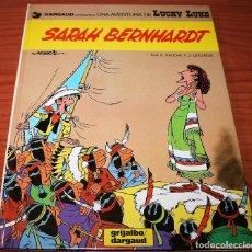 Cómics: LUCKY LUKE - SARAH BERNHARDT - MORRIS/FAUCHE/LETURGIE - GRIJALBO/DARGAUD - 1983 - EN CATALÁN. Lote 116262247