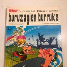 Cómics: ASTERIX BURUZAGIEN BURRUKA / EL COMBATE DE LOS JEFES. EUSKERA VASCO. MAS IVARS 1ª EDICION 1976. Lote 117093503