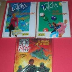 Cómics: CÓMIC ALPHA 1-EL INTERCAMBIO, 2-EL CLAN BOGDANOV,3-EL SALARIO DE LOS LOBOS. JIGOUNOV/RENARD. NUEVOS. Lote 118411211