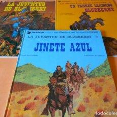 Cómics: BLUEBERRY. LA JUVENTUD DE BLUEBERRY. CHARLIER & GIRAUD. TRES TOMOS. BUEN ESTADO.. Lote 118446915