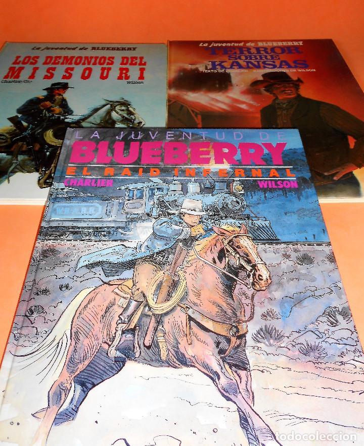 BLUEBERRY. LA JUVENTUD DE BLUEBERRY. CHARLIER & GIR & WILSON. TRES VOLUMENES. BUEN ESTADO. (Tebeos y Comics - Grijalbo - Blueberry)
