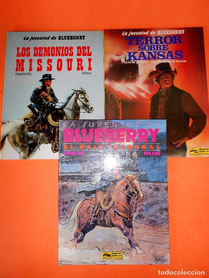 Cómics: BLUEBERRY. LA JUVENTUD DE BLUEBERRY. CHARLIER & GIR & WILSON. TRES VOLUMENES. BUEN ESTADO. - Foto 2 - 118484487