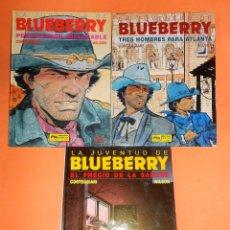 Cómics: BLUEBERRY. LA JUVENTUD DE BLUEBERRY. CORTEGGIANI & WILSON. TRES VOLUMENES. MUY BUEN ESTADO. Lote 118485571