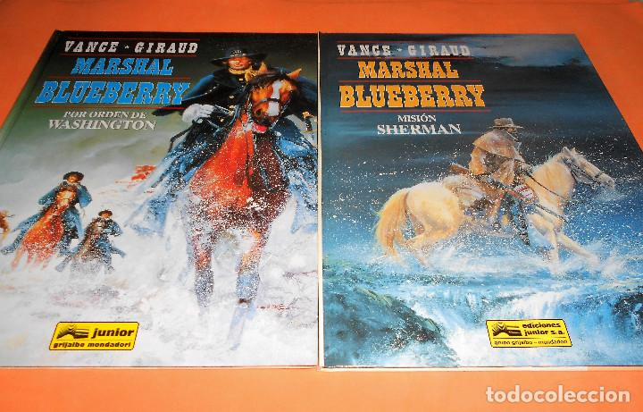 Cómics: BLUEBERRY. MARSHAL BLUEBERRY. GIRAUD & VANCE & ROUGE. TRES VOLUMENES. MUY BUEN ESTADO - Foto 3 - 118486759