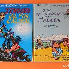 Cómics: IZNOGUD. DOS VOLUMENES. GOSCINNY & TABARY. LAS VACACIONES DEL CALIFA. AL FIN CALIFA.. Lote 118528907