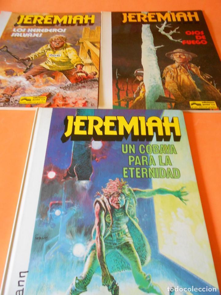 JEREMIAH. TRES VOLUMENES. Nº 3,4(1ª EDICION RÚSTICA) Y 5 (CARTONÉ). HERMANN. BUEN ESTADO. (Tebeos y Comics - Grijalbo - Jeremiah)