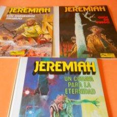 Cómics: JEREMIAH. TRES VOLUMENES. Nº 3,4(1ª EDICION RÚSTICA) Y 5 (CARTONÉ). HERMANN. BUEN ESTADO.. Lote 118530671