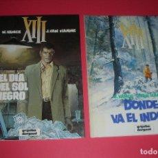 Cómics: XIII EL DIA DEL SOL NEGRO Y DONDE VA EL INDIO Nº 1 Y 2 GRIJALBO/DARGAUD . NUEVOS. Lote 118666639