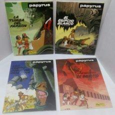Cómics: PAPYRUS. LOTE 4 NÚMEROS. 4, 5, 6 Y 8. TOTALMENTE NUEVOS. DE GIETER. GRIJALBO. TAPA DURA.. Lote 119382540