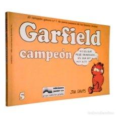 Cómics: GARFIELD Nº 5 / CAMPEÓN / JUNIOR / GRIJALBO 1988 (TIRAS DE PRENSA EDICION RUSTICA) JIM DAVIS. Lote 120441475