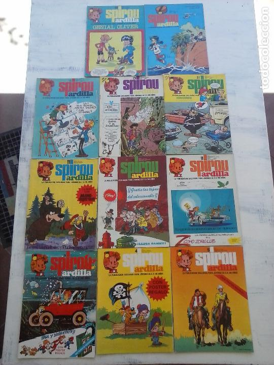 SPIROU ARDILLA Nº 2,4,5,11,12,13,15,29,31,48,67 CON TAPAS DEL COLECIONABLE ,POSTERS, COLECIONABLES (Tebeos y Comics - Grijalbo - Spirou)