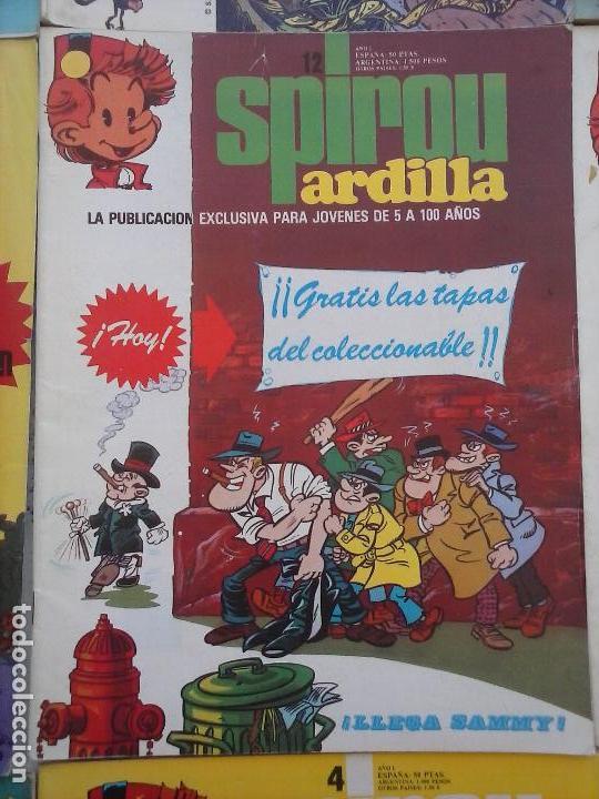Cómics: SPIROU ARDILLA Nº 2,4,5,11,12,13,15,29,31,48,67 CON TAPAS DEL COLECIONABLE ,POSTERS, COLECIONABLES - Foto 24 - 121218347
