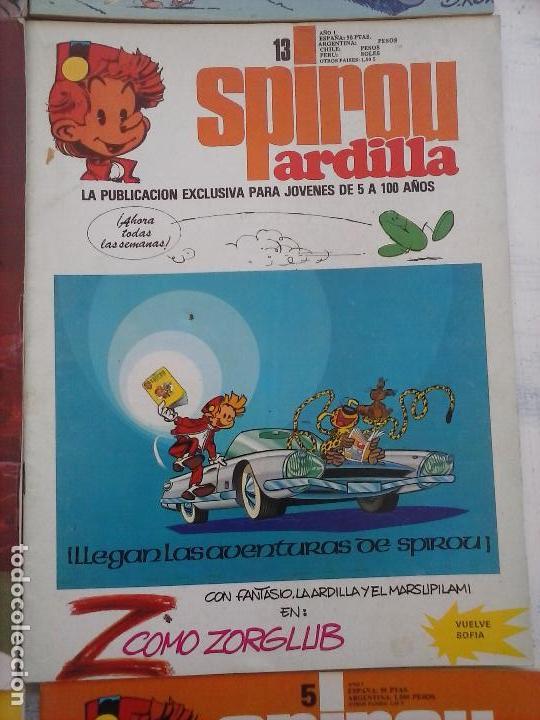 Cómics: SPIROU ARDILLA Nº 2,4,5,11,12,13,15,29,31,48,67 CON TAPAS DEL COLECIONABLE ,POSTERS, COLECIONABLES - Foto 25 - 121218347