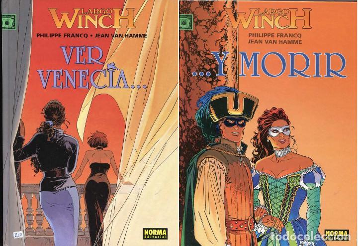 LARGO WINCH NUMEROS 9 Y 10 VER VENECIA ...Y MORIR POR PHILIPPE FRANCQ Y JEAN VAN HAMME (Tebeos y Comics - Grijalbo - Largo Winch)