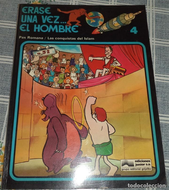 ERASE UNA VEZ... EL HOMBRE N.º 4 PAX ROMANA / CONQUISTAS DEL ISLAM ED. JUNIOR 1979 (Tebeos y Comics - Grijalbo - Otros)