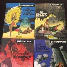 Comics : LOTE PAPYRUS. DE GIETER. EDICIONES JUNIOR (GRIJALBO). AÑOS 80. NÚMEROS 3,5,6 Y 8. COLOR. Lote 125038920