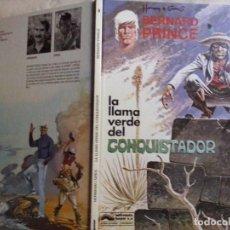 Cómics: TEBEOS Y COMICS:LA LLAMA VERDE DEL CONQUISTADOR. HERMANN Y GREG. AVENTURA DE BERNARD PRINCE 8 (ABLN). Lote 128678067