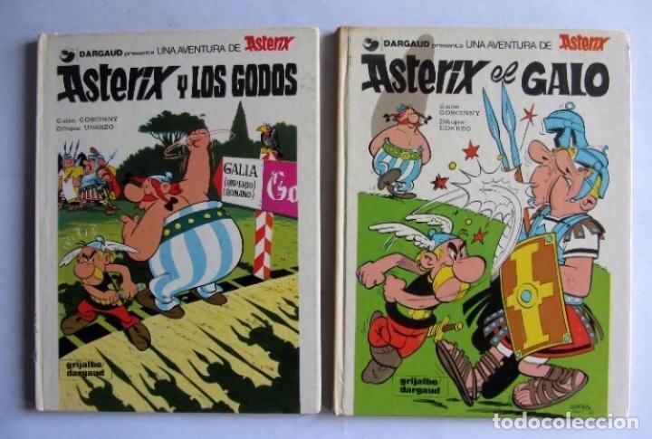 ASTERIX EL GALO + ASTERIX Y LOS GODOS DARGAU TAPAS DURAS NÚMS 1 Y 2 1982 (Tebeos y Comics - Grijalbo - Asterix)