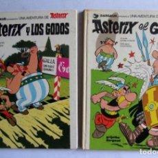 Cómics: ASTERIX EL GALO + ASTERIX Y LOS GODOS DARGAU TAPAS DURAS NÚMS 1 Y 2 1982. Lote 128884555