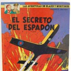Cómics: LAS AVENTURAS DE BLAKE Y MORTIMER Nº 9. EL SECRETO DEL ESPADÓN. 1ª PARTE - EDGAR P. JACOBS. Lote 129327323