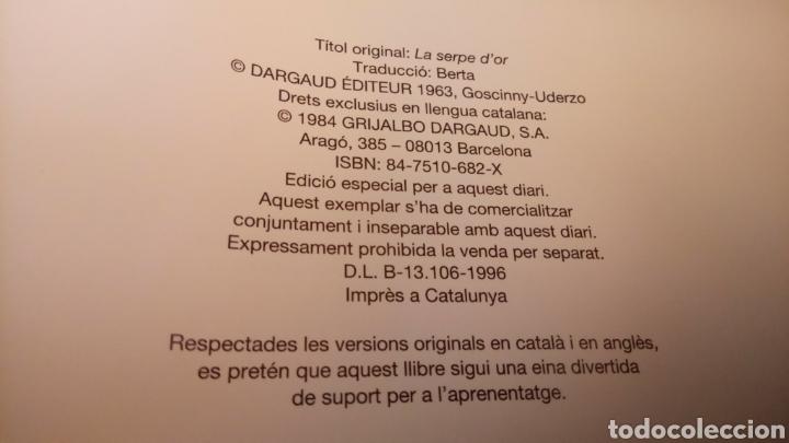 Cómics: Astèrix la falç d'or catalán e inglés, 1984,tapa dura - Foto 3 - 129407820