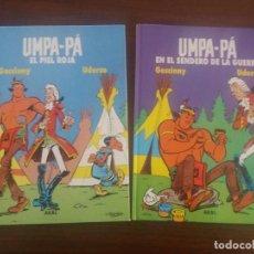Cómics: UMPA-PÁ EL PIEL ROJA AKAL Nº 1 Y 2 POR UDERZO Y GOSCINNY CREADORES DE ASTERIX. Lote 130816904